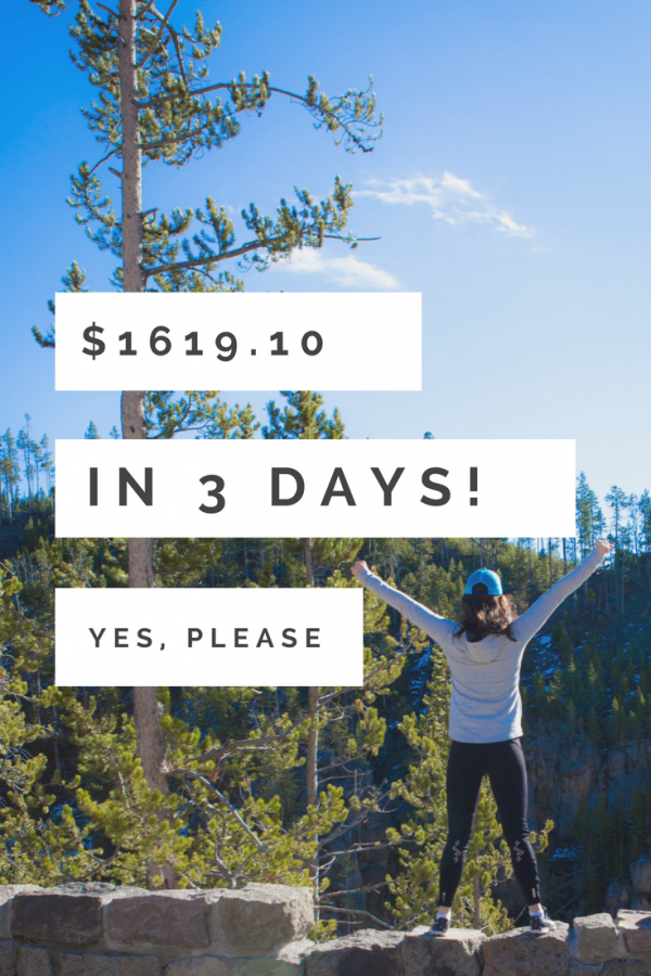 Selling $1619.10 in 3 days! + a Track Meet