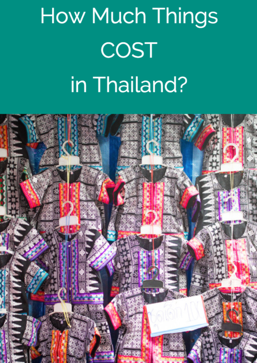 how much things cost in thailand