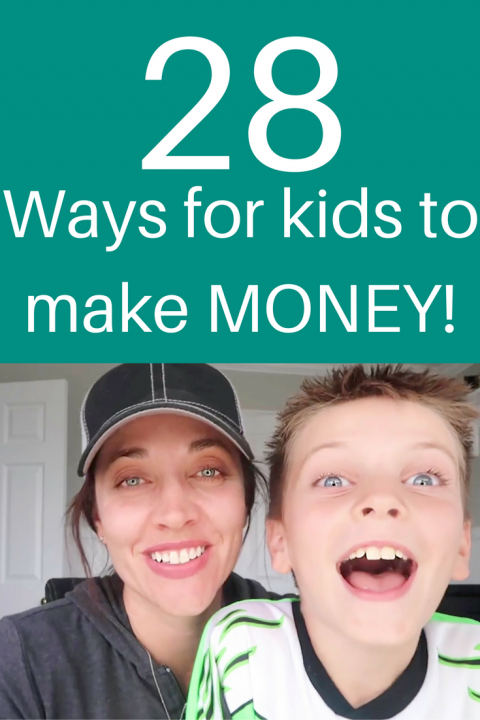 Ways for kids to make money pinterest image