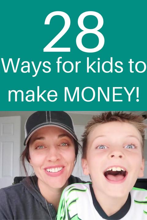 Ways for kids to make money pinterest image