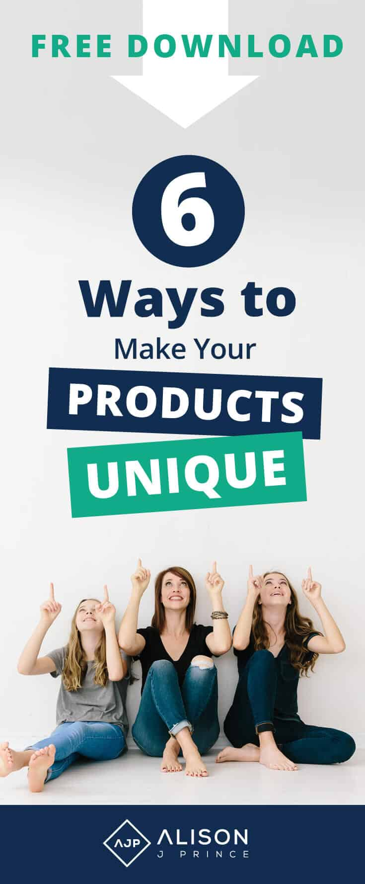 Make your product unique - ecommerce tips from Alison J. Prince
