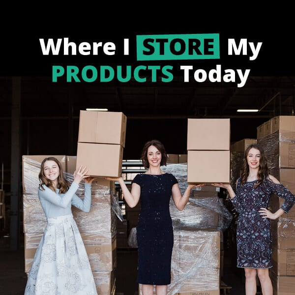 Where to store online business products - where I store my products today - ecommerce tips from Alison Prince