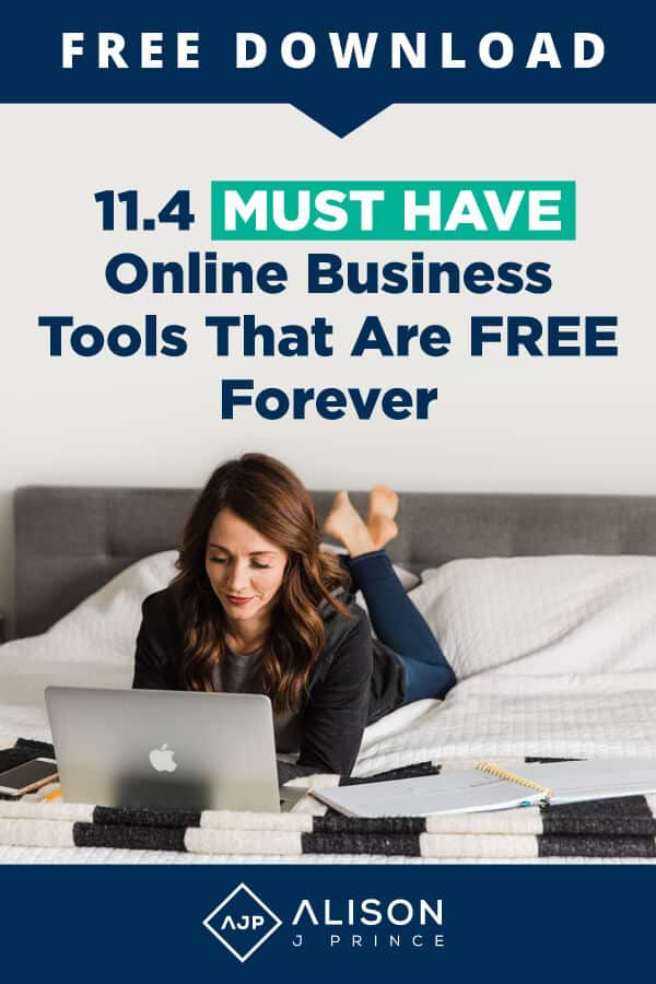 Get the best free business tools to start your e-commerce business, per e-commerce expert and mentor Alison J. Prince