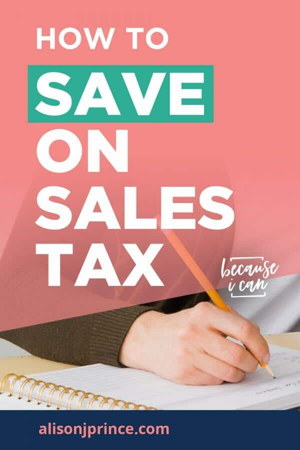how to save on sales tax with a resale certificate