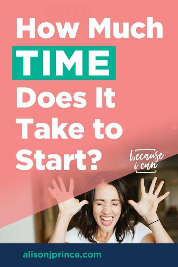 How much time does it take to start an online business?