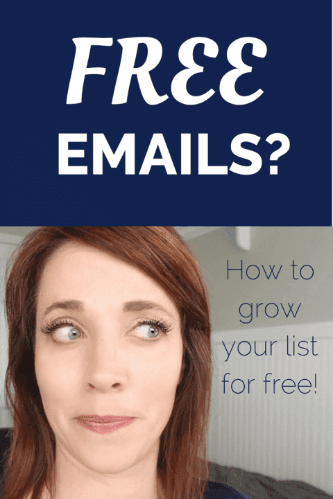 grow your email list for free pinterest image