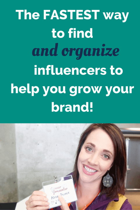The fastest way to find influencers photo with Alison J Prince