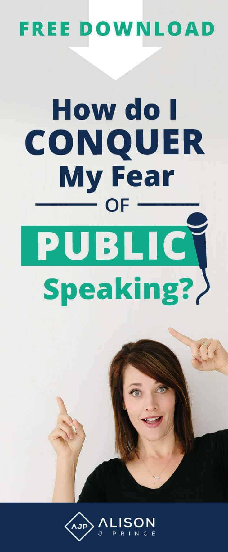 How do I conquer my fear of public speaking? Ecommerce entrepreneur Alison J. Prince