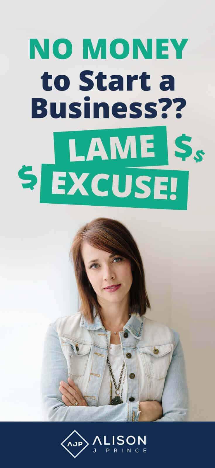 Alison Prince - No Money, No Excuse - ecommerce